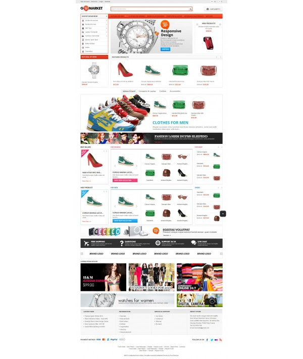 قالب سوپر مارکت پرستاشاپ قالب های تجاری پرستاشاپ